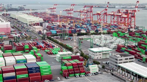 City Container Terminal Shipment Delivery Tokyo