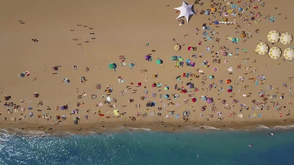 Thumbnail for Top View Beach. Aerial View From Flying Drone