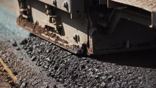 Works Road Roller With Asphalt