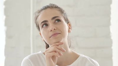 Thinking Young Woman