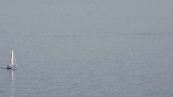 Thumbnail for A Lonely Yacht on the Quite Water