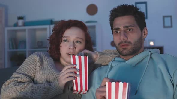 Couple Terrified by Movie They Watching