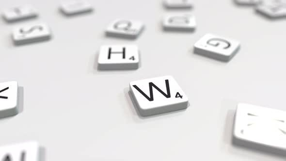 Thumbnail for WINTER Word Being Composed with Letters