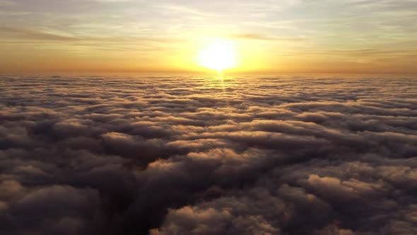 Thumbnail for Flying Above The Clouds on Sunset