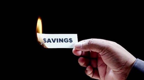 Burning Paper Writing Savings