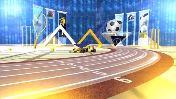 Virtual Sports Studio Set Background 1