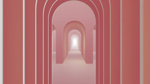 In To Door Abstract Pastel Color Geometry Tunnel 06 HD