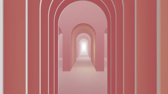 Thumbnail for In To Door Abstract Pastel Color Geometry Tunnel 06 HD