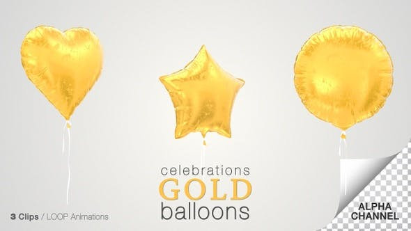 Thumbnail for Gold Balloons