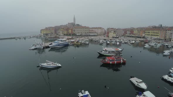 Thumbnail for Aerial view of the seaport of Rovinj
