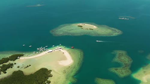 Tropical Islands and Coral Reef Philippines Palawan