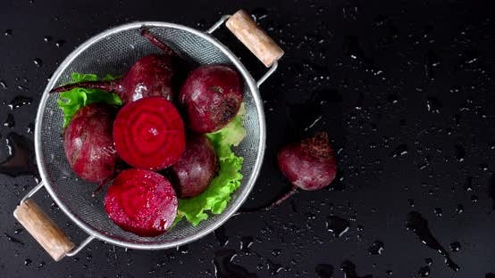 Thumbnail for Fresh Beets Basket in the Rain .