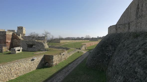 The ruins of Belgrade Fortress
