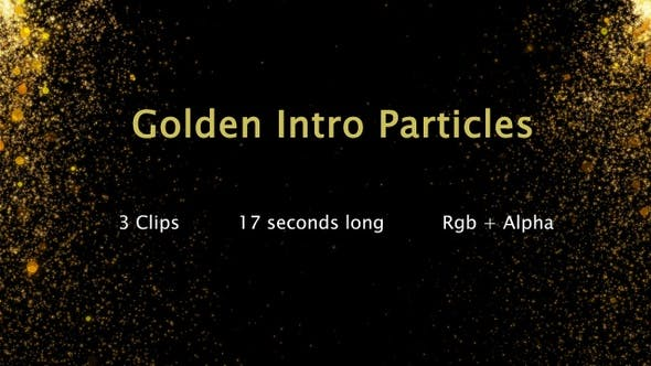 Golden Intro Particles