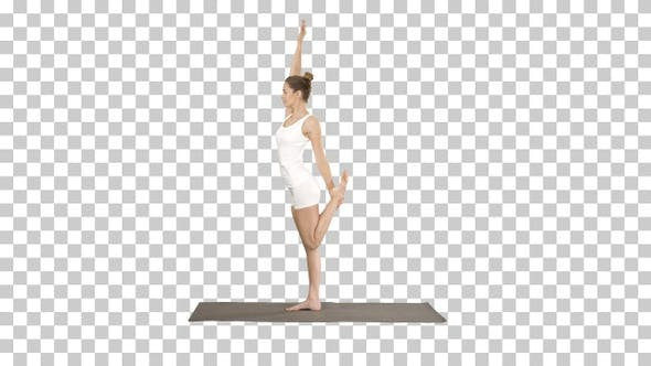 Young Yogi Attractive Woman Practicing Yoga Concept Standing