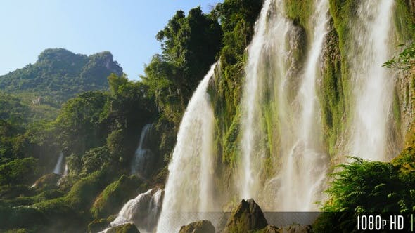 Thumbnail for Picturesque Sunny Waterfall in Southeast Asia