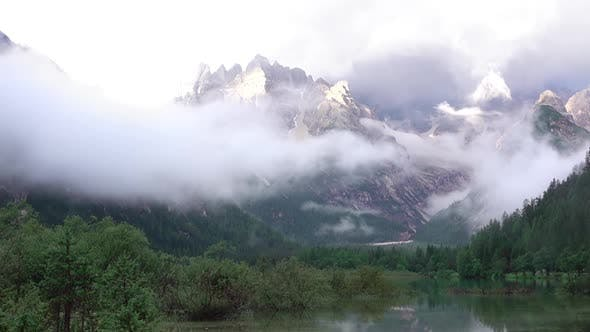 Thumbnail for Mixture of Clouds with a Mist over a Mountain Lake