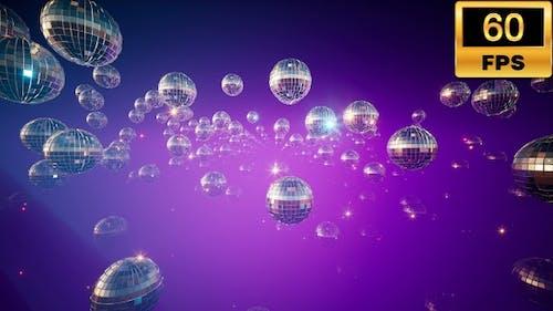 Glänzende Discokugeln, 60 Bilder/s