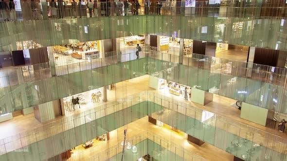 Timelapse Various Stores in Modern Tokyo Shopping Center