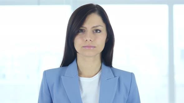 Thumbnail for Portrait of Upset Sad Young Businesswoman