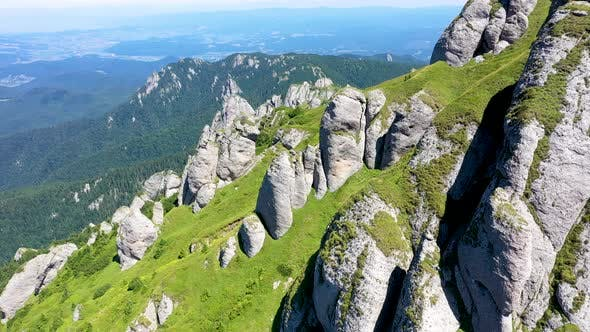 Flying in the Carpathian Mountains, Romania
