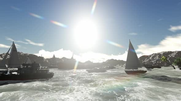 Thumbnail for Many boats sail during the day