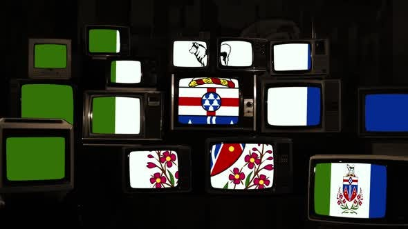 Flag of Yukon and Retro TVs.