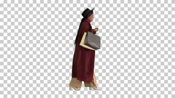 Thumbnail for Pretty African american fashion girl in, Alpha Channel