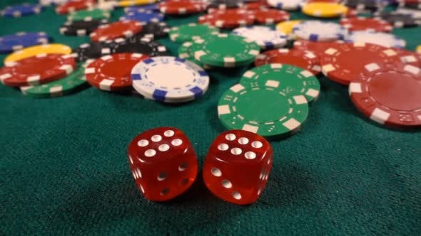 Thumbnail for Gambling Money Chips And Red Dices 1