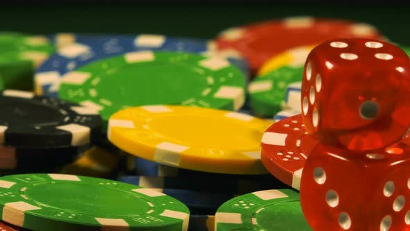Cover Image for Gambling Money Chips And Red Dices