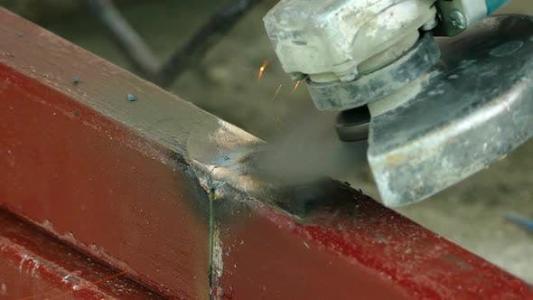 Thumbnail for Grinding the Welding Place with an Angle Grinder