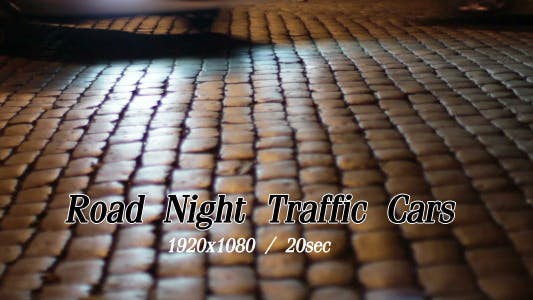Cover Image for Road Night Traffic Cars