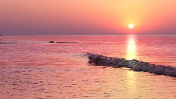 Thumbnail for Multi-Colored Sunrise Over The Surf