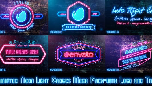 Cover Image for Neon Lights Badges