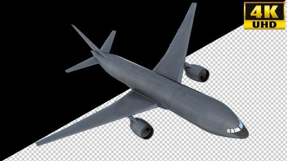 Airliner On Alpha Channel Loops V1
