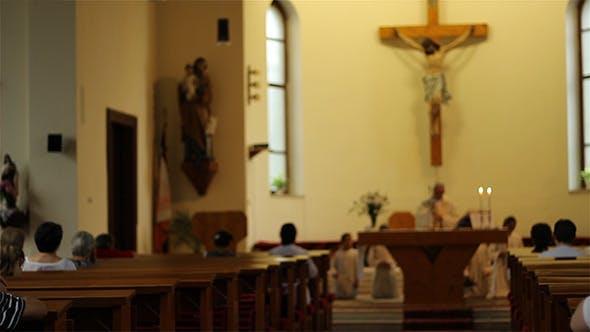 Thumbnail for People Praying in Church
