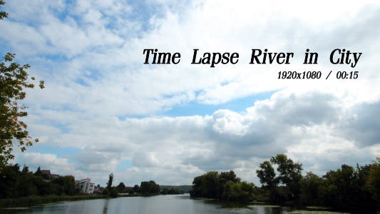 Cover Image for Time Lapse River In City