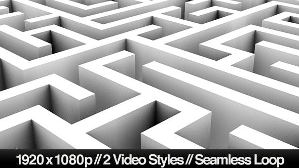 Thumbnail for Endless Loop of a Maze or Labyrinth - 2 Styles