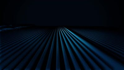 Abstract animation of blue geometric shapes