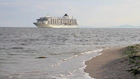Thumbnail for Passenger Ship Near To The Beach