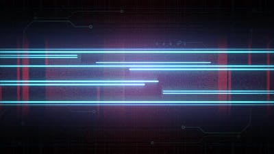 Cyberpunk background with neon lines and matrix grid