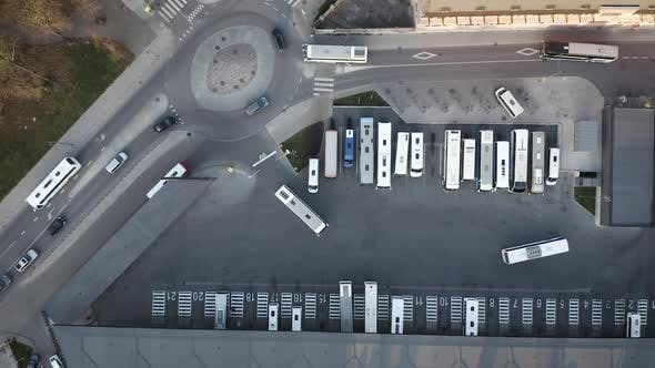 Bus Station Traffic From Above