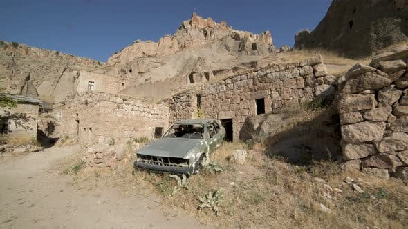 A Dilapidated Neighborhood Abandoned After a War