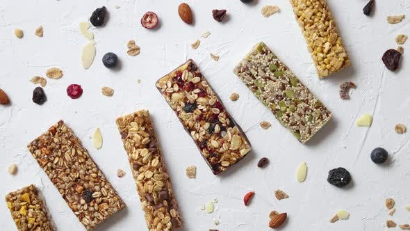 Thumbnail for Homemade Gluten Free Granola Bars with Mixed Nuts, Seeds, Dried Fruits