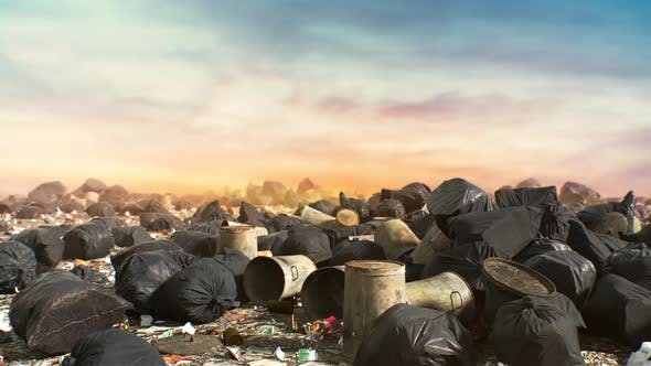 Abstract Dump Trash Backround