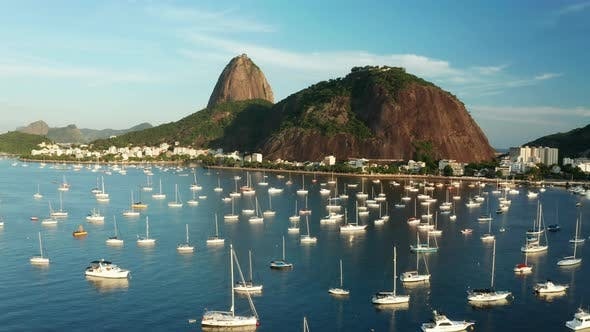 Thumbnail for Aerial View of the Sugar Loaf at Sunset. Rio De Janeiro.