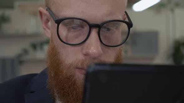 Thumbnail for Handsome Hipster Use Gadget