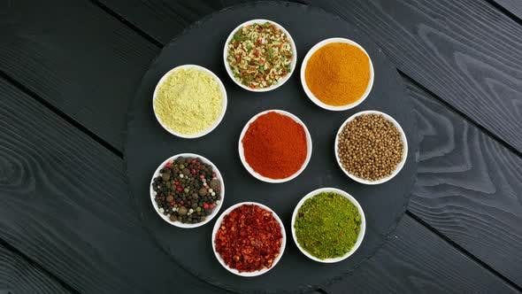Colorful Herbs and Spices for Cooking