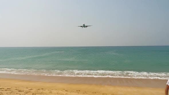 Plane Landing at Phuket Island