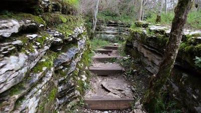 Hiking trail between the rocks